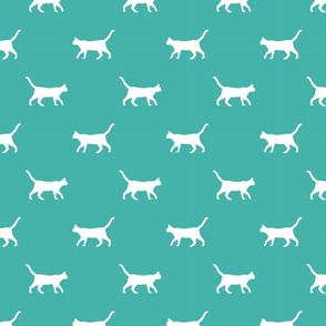 turquoise cat silhouette fabric best cats design kitten fabric cats fabric cat silhouette design