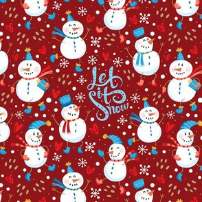 Festive - Snowmen Red/Blue