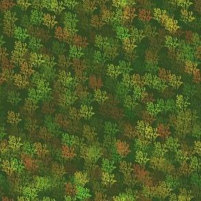 Autumn Bush Landscape