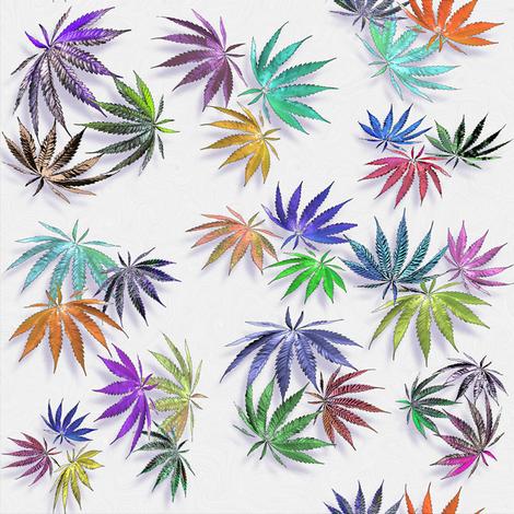 Artful Fan Leaves fabric by camomoto on Spoonflower - custom fabric