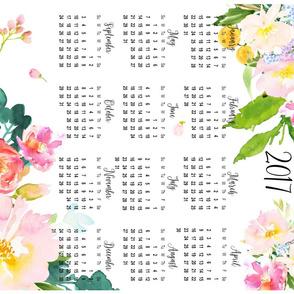"""2017 Floral Calendar - Fat Quarter 21""""x18"""""""