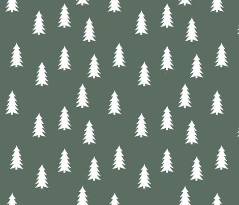 trees on terrain green || adventure camp fabric by littlearrowdesign on Spoonflower - custom fabric