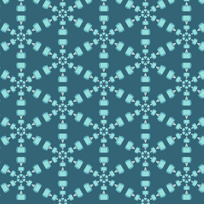 Snow Day Toboggan Snowflake
