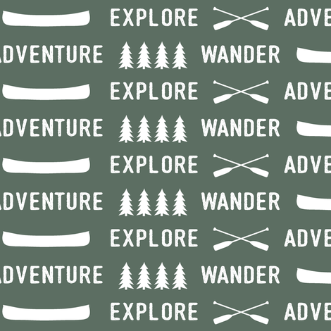 explore wander adventure on terrain green || adventure camp fabric by littlearrowdesign on Spoonflower - custom fabric