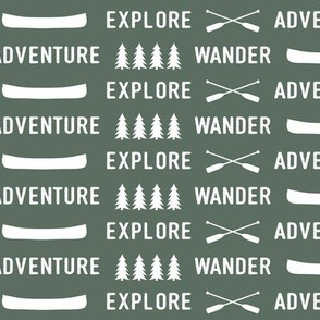 explore wander adventure on terrain green || adventure camp