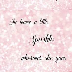 She leaves a little sparkle...glitter fabric