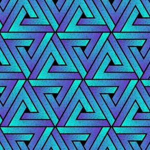 Grunge Key Triangles - Cyan Mauve
