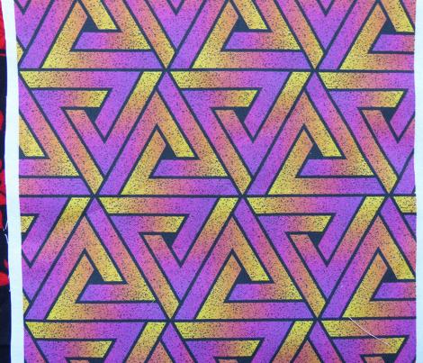 Grunge Key Triangles - Magenta Yellow