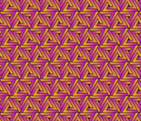 Grunge Key Triangles - Magenta Yellow fabric by samalah on Spoonflower - custom fabric