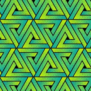 Grunge Key Triangles - Teal & Lime