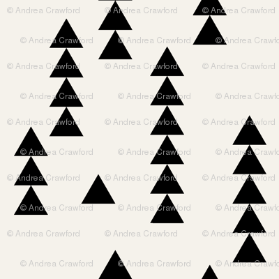 Stacked triangles black on off white