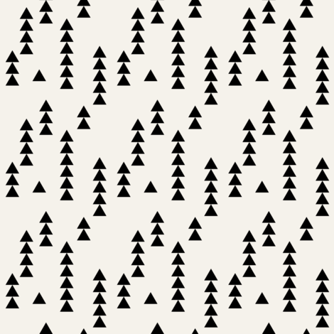 Stacked triangles black on off white fabric by mintpeony on Spoonflower - custom fabric