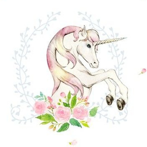 "7"" Sweet Floral Unicorn"