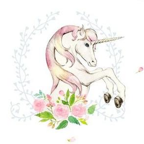 "Sweet Floral Unicorn 7"""