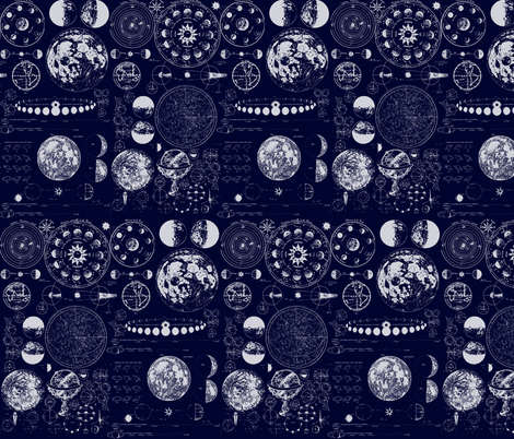 Star Maps fabric by sharksvspenguins on Spoonflower - custom fabric