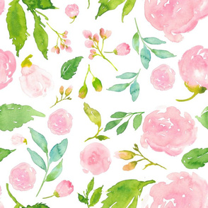 Once Upon a Time Floral - White Background