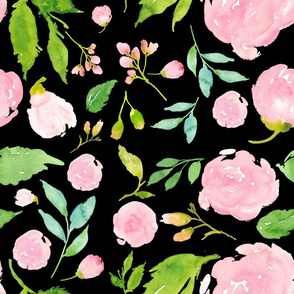 Once Upon a Time Floral - Black
