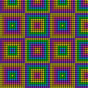 Rainbow Houndstooth Quilt 1