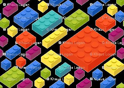 Childrens Plastic Toy blocks 3D Pattern