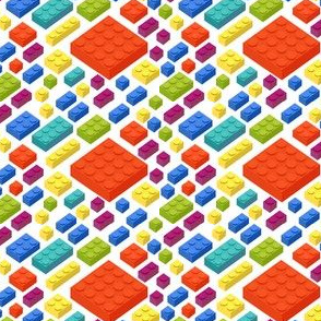 Childrens Plastic Toy blocks 3D Pattern