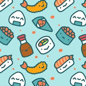 Cute Sushi Food Fabric