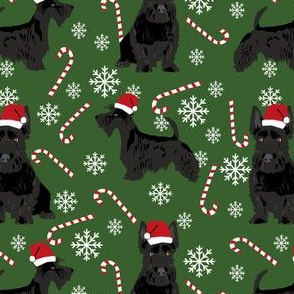 scottish terrier dog fabric garden green christmas design scottie dog fabric