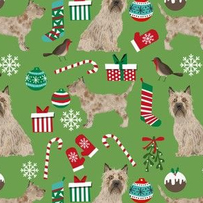 cairn terrier christmas fabric terrier dog dogs fabric cairn terriers asparagus green