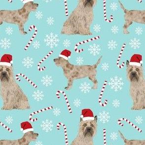 blue tint cairn terrier christmas fabric terrier dog dogs fabric cairn terriers blue tint