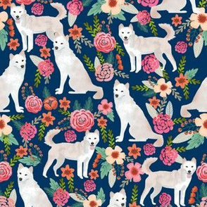 jindo floral fabric jindo dogs fabric dog design