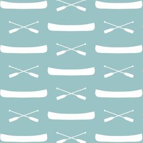 canoes on blue echo