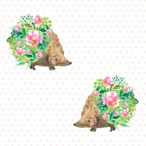 Hedgehog Polka Dots Pink
