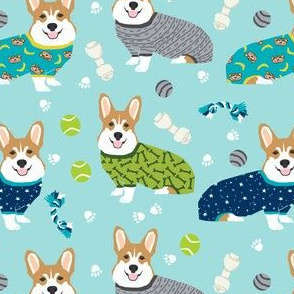 corgi pjs cute corgis in pajamas fabric design best corgi fabrics