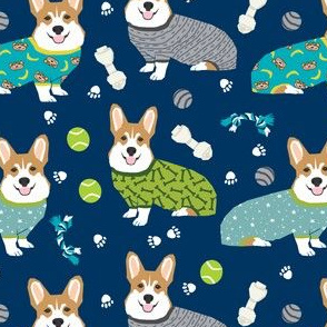 corgis in pjs fabric cute corgis in pajamas design best corgi fabrics
