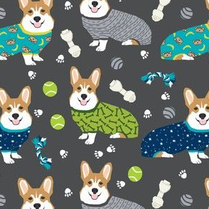 corgi pjs fabric corgis in pajamas fabrics cute corgi designs best corgi fabric
