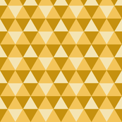 Triangles - Gold on Gold