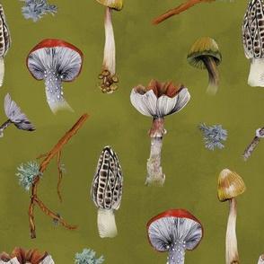 Mushroom Party Forestgreen