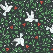 Mistletoe_and_doves_dark_background_150_hazel_fisher_creations_shop_thumb