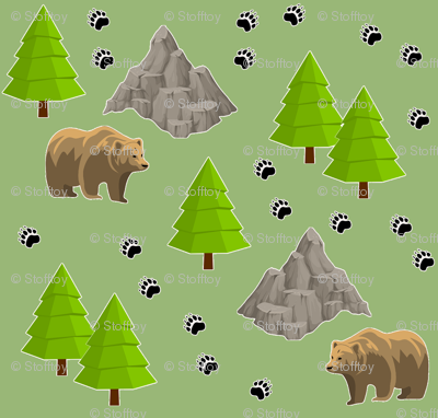 grizzly on the way - green