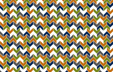 Orange Navy Lime Geometric fabric by sewluvin on Spoonflower - custom fabric