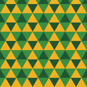 Triangles - Gold on Green