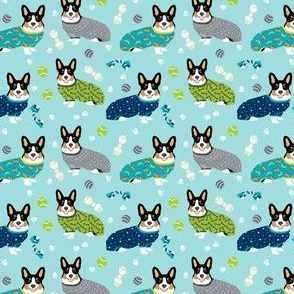 tri colored corgis in pjs fabric cute corgi design best corgi fabric