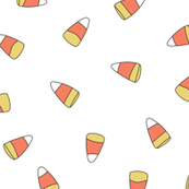 CANDY CORN ON WHITE