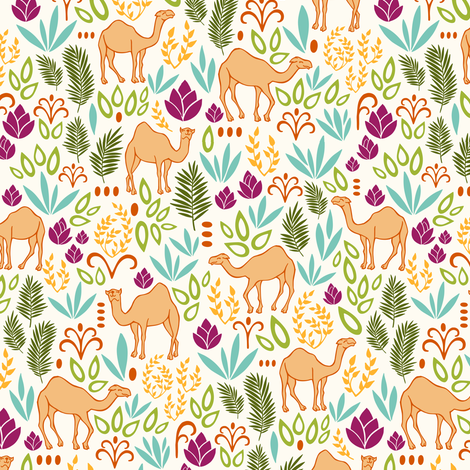 Camels fabric by annabhall on Spoonflower - custom fabric