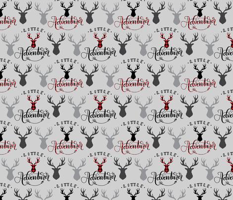 Little adventurer - 6 inch - Deer heads fabric by howjoyful on Spoonflower - custom fabric