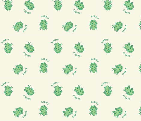 Ribbit fabric by emily_doliner on Spoonflower - custom fabric