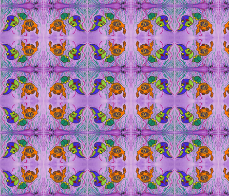Fishes and a Frog fabric by valerie_d'ortona on Spoonflower - custom fabric