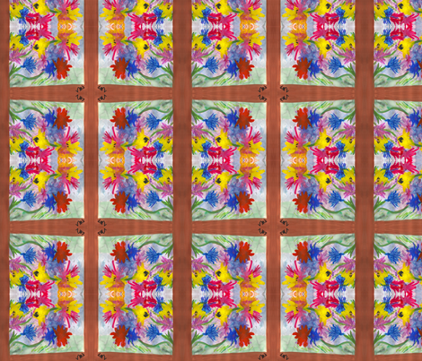 Flower View fabric by valerie_d'ortona on Spoonflower - custom fabric