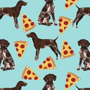 german shorthaired pointer pizza fabric pointer dog design