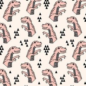 dinosaurs // dino dinosaur pink girls small mini dino prehistoric jurassic