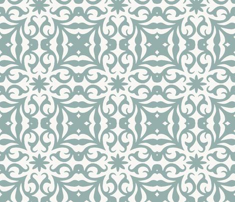 grey__flourish fabric by elliemacdesigns on Spoonflower - custom fabric
